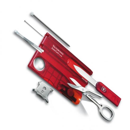 Фото - Набор Victorinox SwissCard Lite Onyx красный купить в киеве на подарок, цена, отзывы
