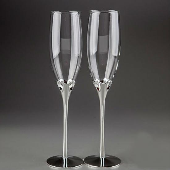 Фото - Свадебные бокалы Сердечки Classic купить в киеве на подарок, цена, отзывы