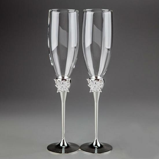 Фото - Свадебные бокалы Бабочки купить в киеве на подарок, цена, отзывы