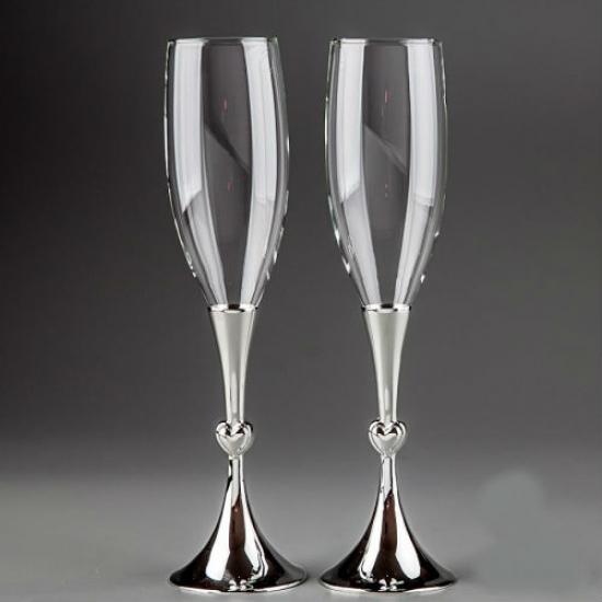 Фото - Свадебные бокалы Два сердца купить в киеве на подарок, цена, отзывы