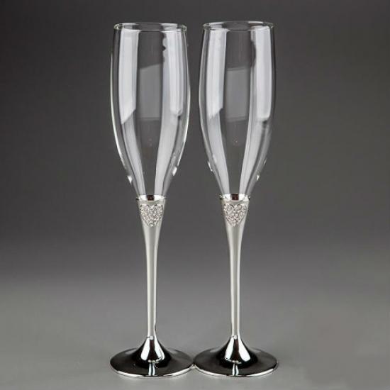 Фото - Свадебные бокалы Хрустальные сердца купить в киеве на подарок, цена, отзывы