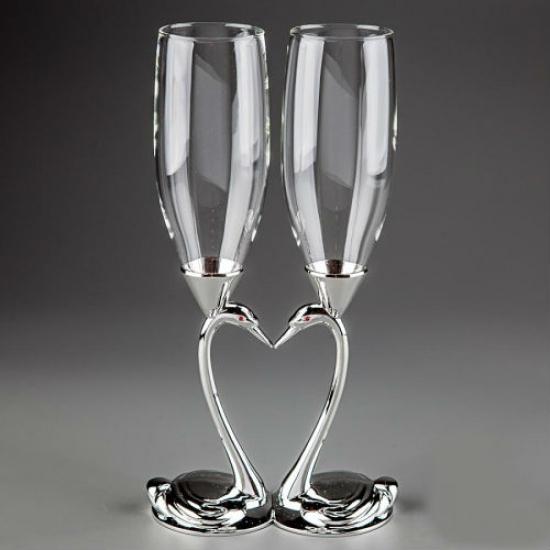 Фото - Свадебные бокалы Лебеди купить в киеве на подарок, цена, отзывы