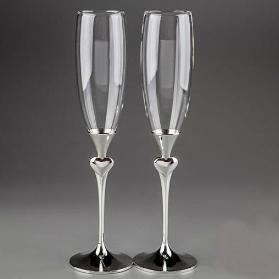Фото - Свадебные бокалы Сердечки купить в киеве на подарок, цена, отзывы