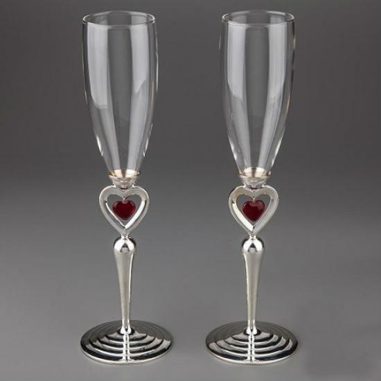 Фото - Свадебные бокалы Пылающие сердца купить в киеве на подарок, цена, отзывы