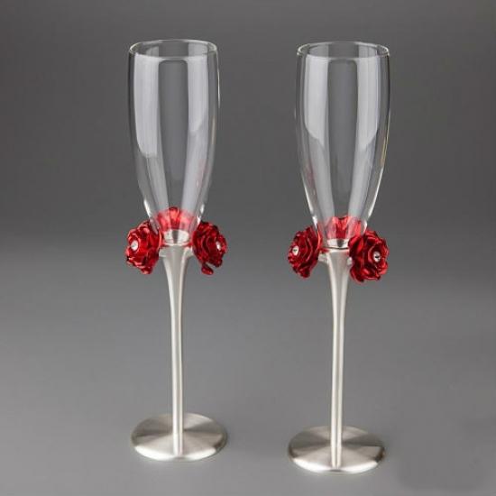 Фото - Свадебные бокалы Розы купить в киеве на подарок, цена, отзывы