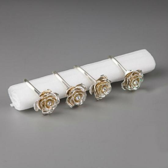 Фото - Кольца для салфеток розы купить в киеве на подарок, цена, отзывы