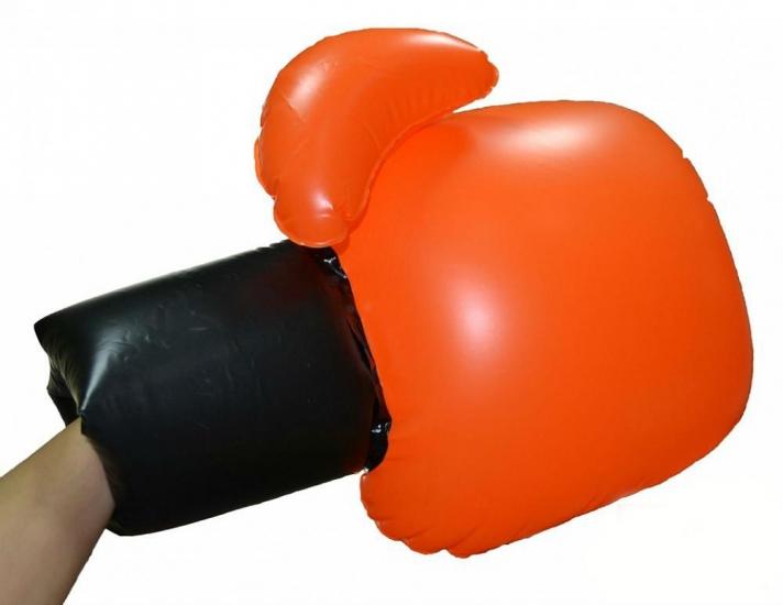 Фото - Перчатки Воздушный бой боксёрские надувные оранжевые  купить в киеве на подарок, цена, отзывы