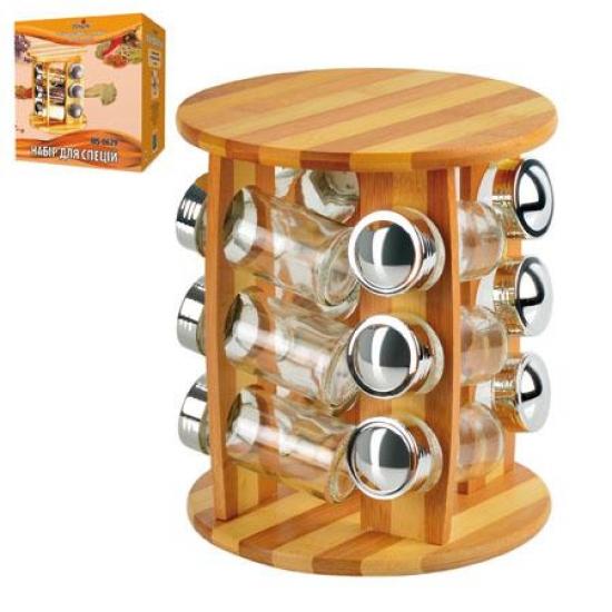 Фото - Набор для специй на 12 баночек купить в киеве на подарок, цена, отзывы