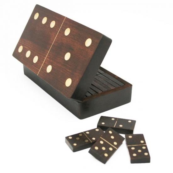 Фото - Игра Домино Брамин в деревянной коробке купить в киеве на подарок, цена, отзывы