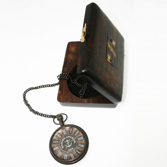 Фото - Часы карманные из черненой латуни Лоцман купить в киеве на подарок, цена, отзывы