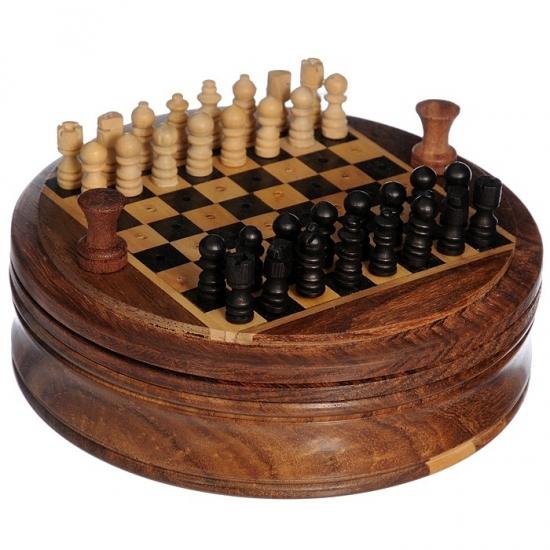 Фото - Шахматы дорожные круглые диаметр 12см РАДЖА купить в киеве на подарок, цена, отзывы