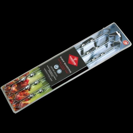 Фото - Набор шампуров в блистере 45 см 6шт купить в киеве на подарок, цена, отзывы
