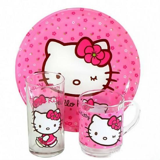 Фото - Набор детский Hello Kitty Pink купить в киеве на подарок, цена, отзывы