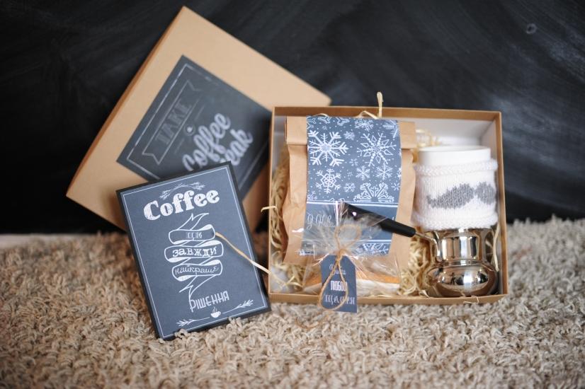 Фото - Подарочный набор  Кофейный Chalkboard купить в киеве на подарок, цена, отзывы
