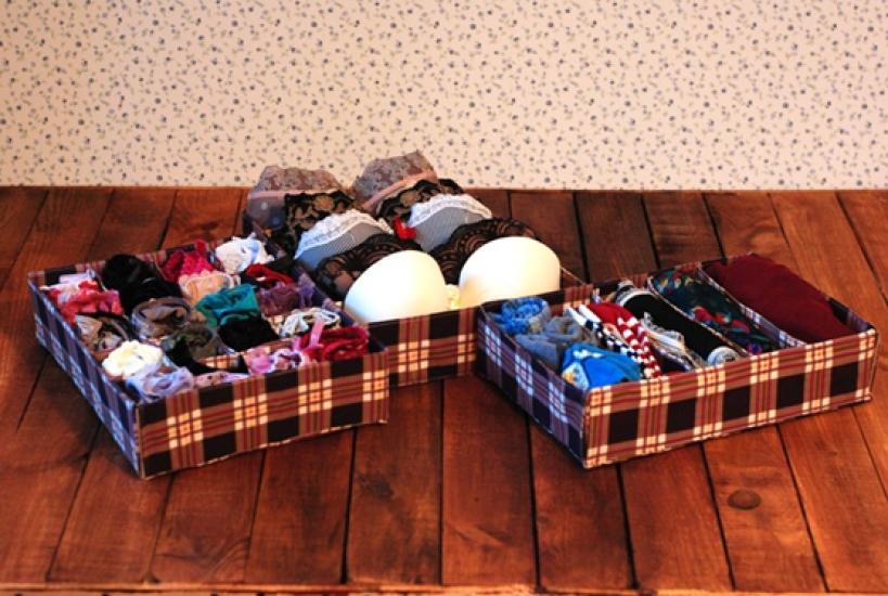 Фото - Комплект органайзеров из 3 шт кофейная клетка купить в киеве на подарок, цена, отзывы