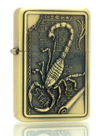 Фото - Бензиновая зажигалка скорпион купить в киеве на подарок, цена, отзывы