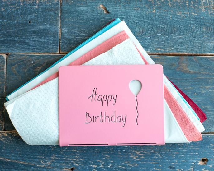 Фото - Салфетница С Днём Рождения купить в киеве на подарок, цена, отзывы