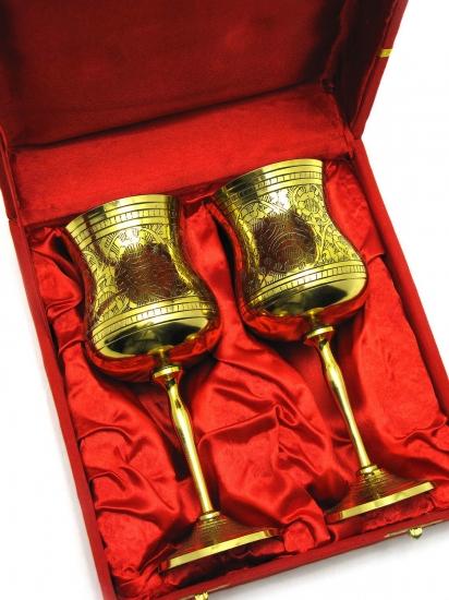 Фото - Бокалы бронзовые позолоченные bluebell купить в киеве на подарок, цена, отзывы