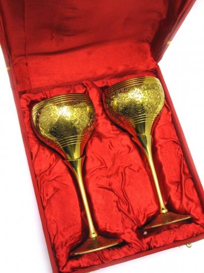 Фото - Бокалы бронзовые позолоченные snowdrop купить в киеве на подарок, цена, отзывы