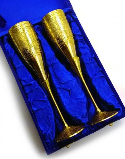 Фото - Бокалы бронзовые позолоченные dandelion купить в киеве на подарок, цена, отзывы