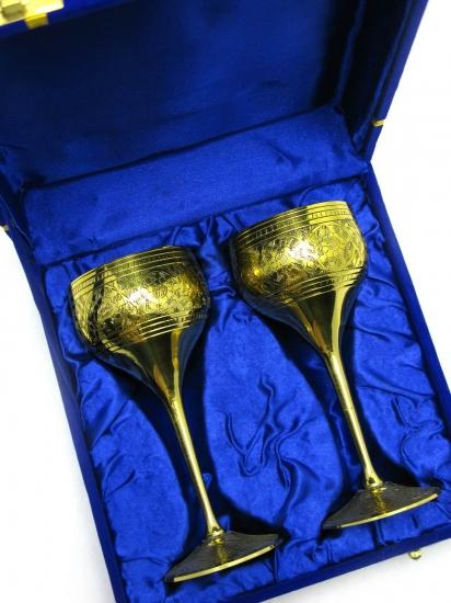 Фото - Бокалы бронзовые позолоченные lotus купить в киеве на подарок, цена, отзывы