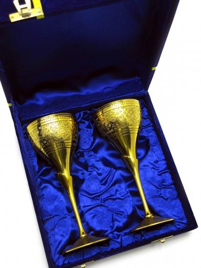 Фото - Бокалы бронзовые позолоченные Sofia купить в киеве на подарок, цена, отзывы