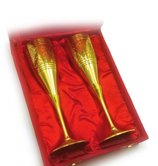 Фото - Бокалы бронзовые позолоченные Alessia купить в киеве на подарок, цена, отзывы