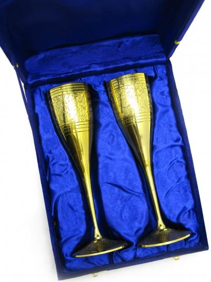 Фото - Бокалы бронзовые позолоченные Francesca купить в киеве на подарок, цена, отзывы