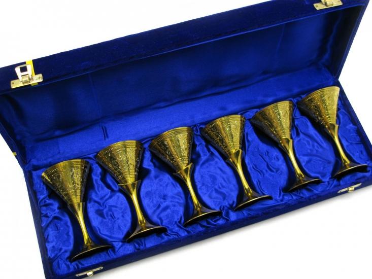 Фото - Бокалы бронзовые позолоченные 6 шт Elisa купить в киеве на подарок, цена, отзывы