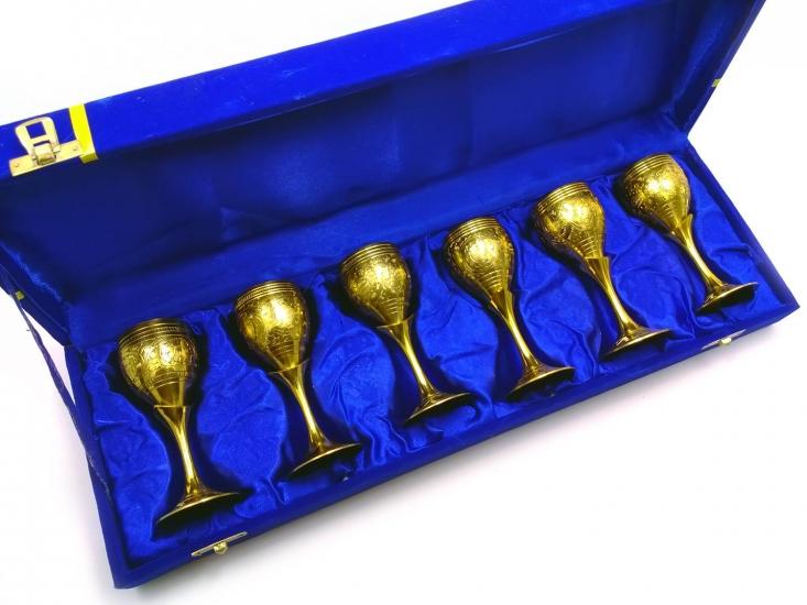 Фото - Бокалы бронзовые позолоченные 6 шт Giada купить в киеве на подарок, цена, отзывы