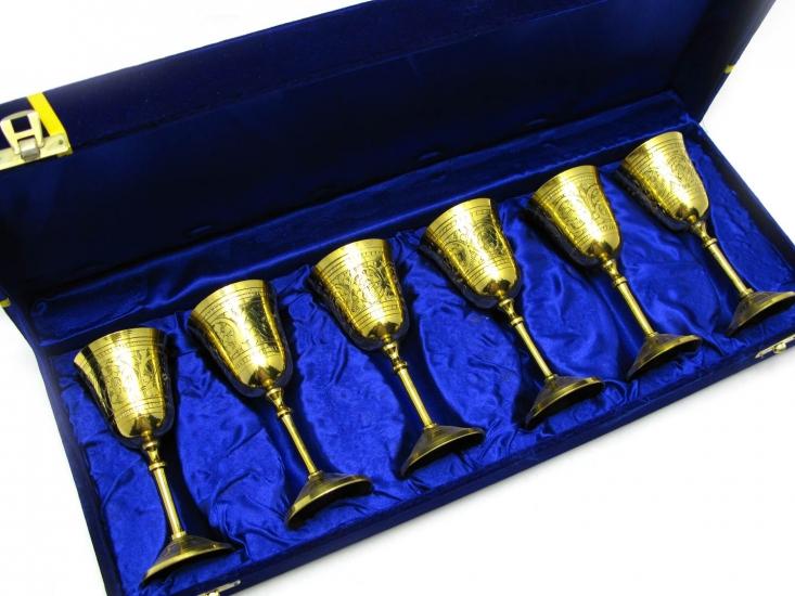 Фото - Бокалы бронзовые позолоченные 6 шт Noemi купить в киеве на подарок, цена, отзывы
