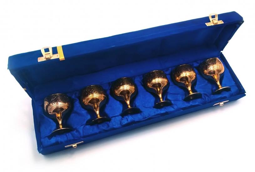 Фото - Бокалы бронзовые позолоченные 6 шт Rebecca купить в киеве на подарок, цена, отзывы