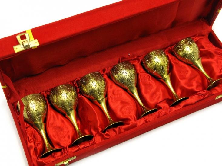 Фото - Бокалы бронзовые позолоченные 6 шт Asia купить в киеве на подарок, цена, отзывы