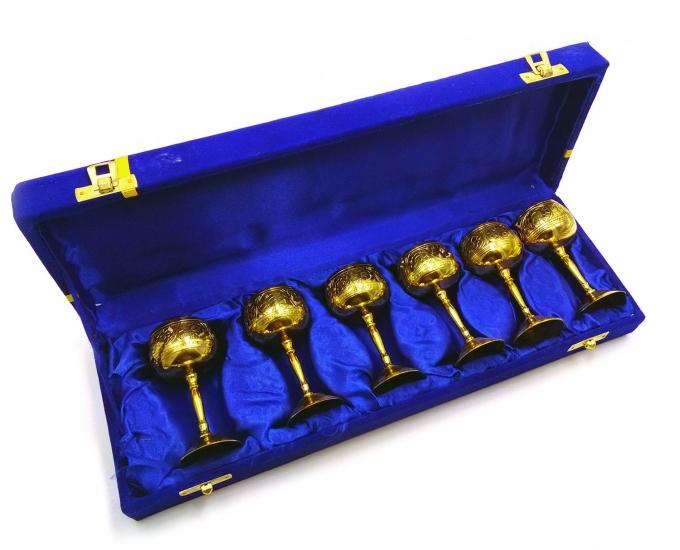 Фото - Бокалы бронзовые позолоченные 6 шт Greta купить в киеве на подарок, цена, отзывы