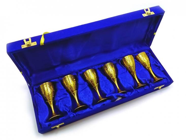 Фото - Бокалы бронзовые позолоченные 6 шт Ilaria купить в киеве на подарок, цена, отзывы