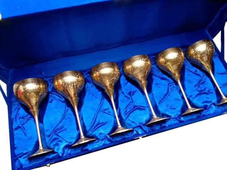 Фото - Бокалы бронзовые позолоченные 6 шт Vittoria купить в киеве на подарок, цена, отзывы