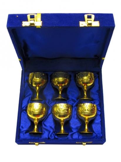Фото - Бокалы бронзовые позолоченные 6 шт Valentina купить в киеве на подарок, цена, отзывы