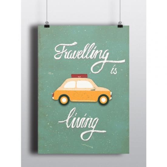 Фото - Постер Travelling is living купить в киеве на подарок, цена, отзывы