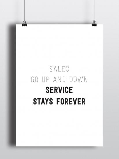 Фото - Постер Service stays forever купить в киеве на подарок, цена, отзывы