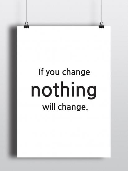 Фото - Постер If you change nothing купить в киеве на подарок, цена, отзывы