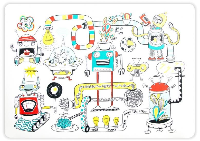 Фото - Подставка под горячее Роботы купить в киеве на подарок, цена, отзывы
