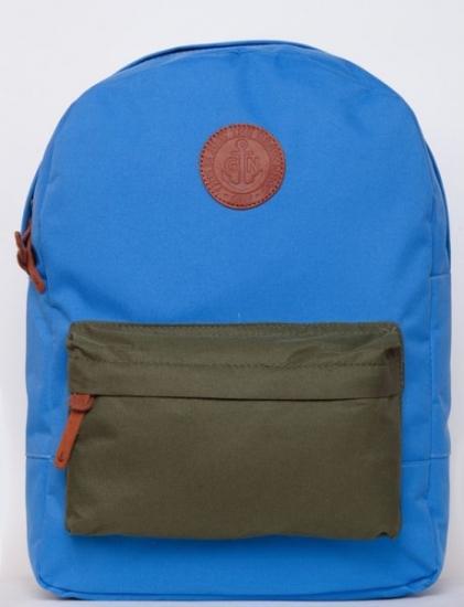 Фото - Рюкзак GiN Bronx голубой с карманом хаки купить в киеве на подарок, цена, отзывы
