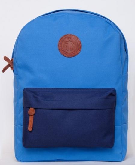 Фото - Рюкзак GiN Bronx голубой с синим карманом купить в киеве на подарок, цена, отзывы