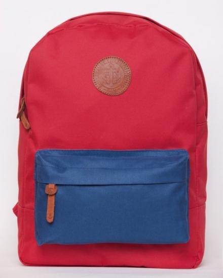 Фото - Рюкзак GiN Bronx красный с карманом неви купить в киеве на подарок, цена, отзывы