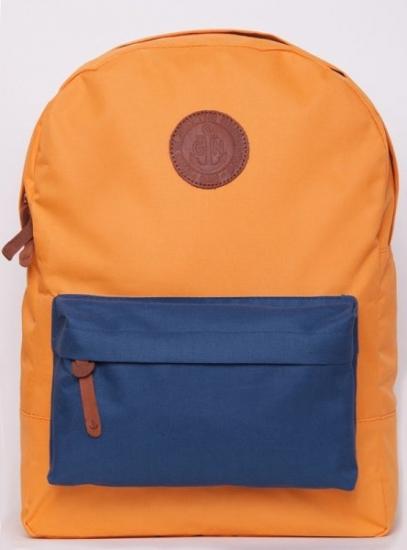 Фото - Рюкзак GiN Bronx оранжевый с карманом неви купить в киеве на подарок, цена, отзывы