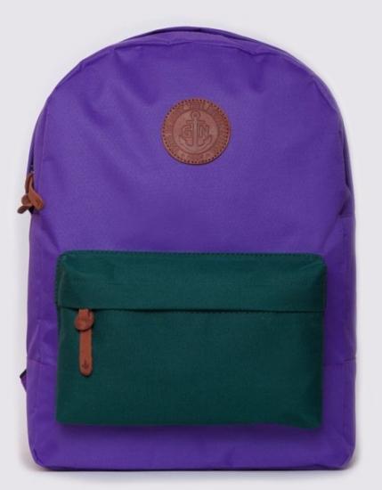 Фото - Рюкзак GiN Bronx сиреневый с зеленым карманом купить в киеве на подарок, цена, отзывы
