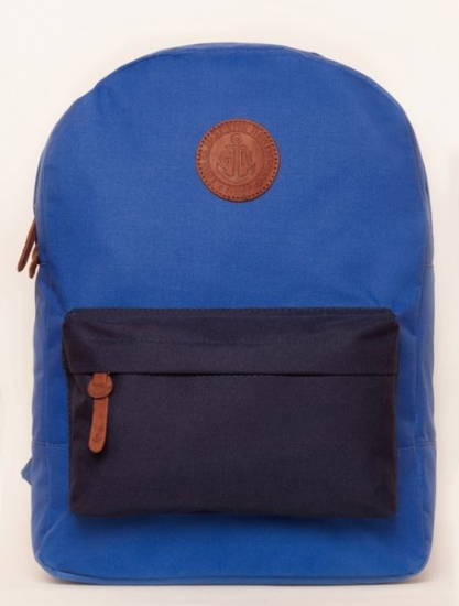 Фото - Рюкзак GiN Bronx электрик с синим карманом купить в киеве на подарок, цена, отзывы