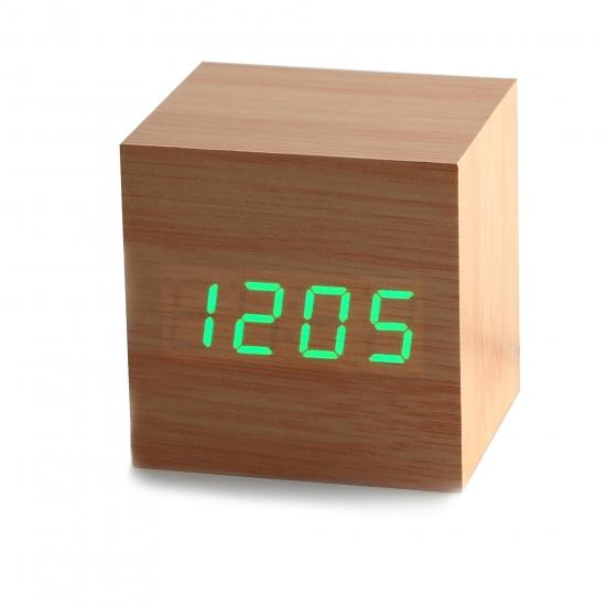 Фото - Часы будильник дерево wood clock green купить в киеве на подарок, цена, отзывы