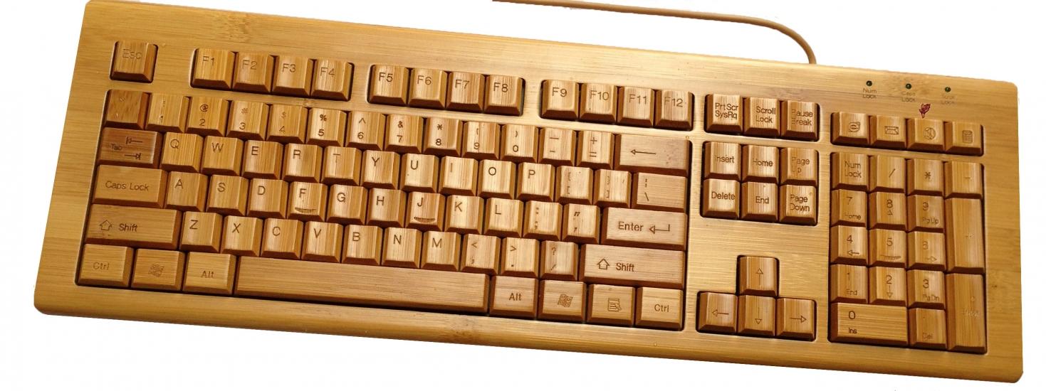 Фото - Клавиатура бамбуковая русифицированная купить в киеве на подарок, цена, отзывы