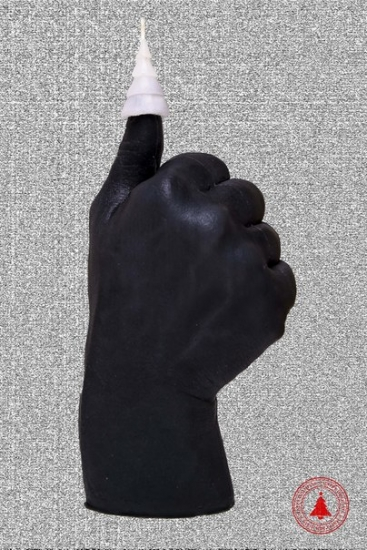 Фото - Свеча в виде руки Like черная с белой елкой купить в киеве на подарок, цена, отзывы